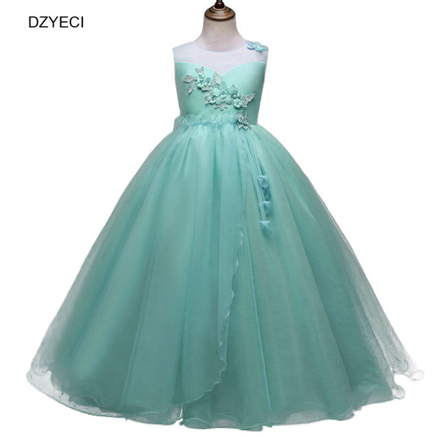 DZYECI Floral Prom Dress For Girl Costume Carnival Ceremony Teenager ...