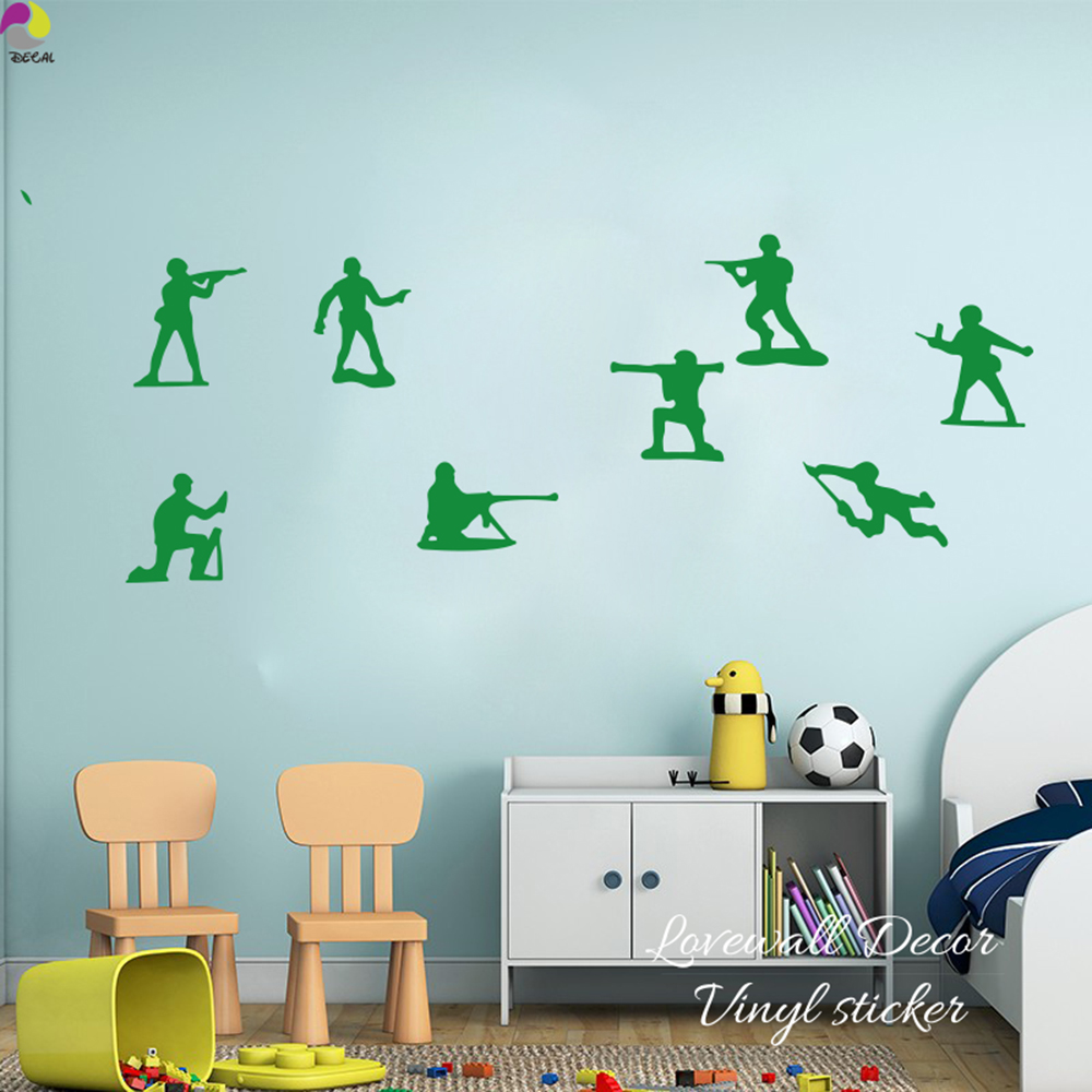 Little Army Men Toy Soldiers Toy Story Boys Wall Sticker Boys Room