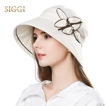 FANCET de lino para mujer sombrero de Sol para mujeres verano sombrero  femenino Praia Chapeau Femme del cubo Upf50 + UV rollo ala plegable 89313 4434f628ccc