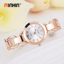 MINHIN Steel Band Women Delicate Watches Gold Silver Wrist Bracelets Dress