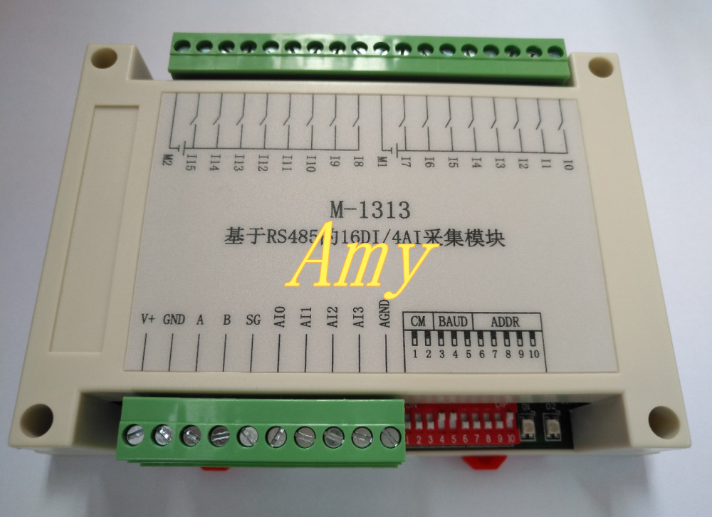 16DI/4AI Input Data Acquisition Module RS485 Communication Card Collector Collector 4-20mA