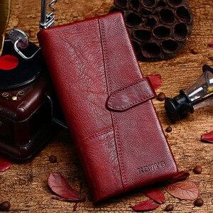 Image 4 - KAVIS Freies Gravur Echtem Leder Frauen Brieftasche Geldbörse Weiblichen Portomonee Dame Lange Handliche Karte Halter Kupplung Geschenk für Name