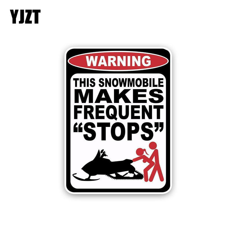 YJZT 11CM*15.2CM Funny This Snowmobile Makes Frequent Stops PVC Decal Car Sticker 12-0196
