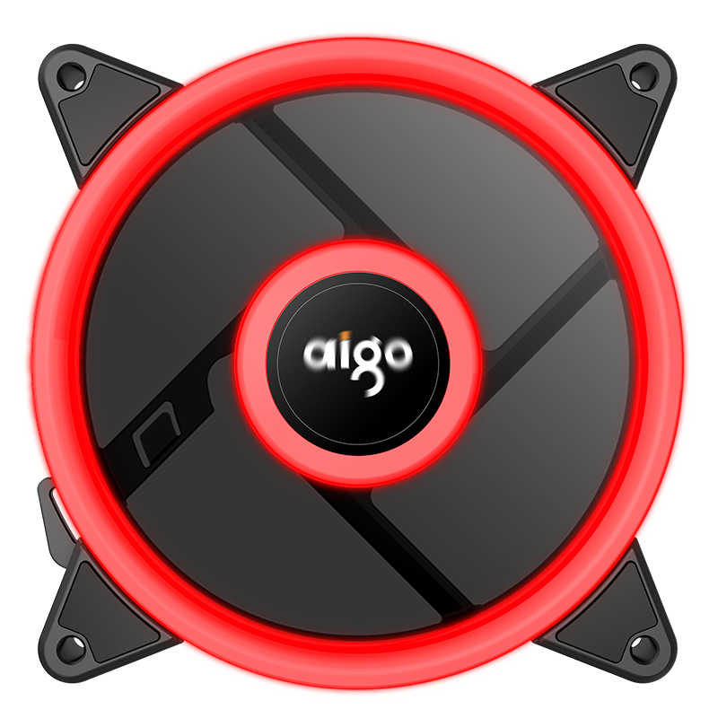 Aigo Aurora PLUS 120 Mm LED 4 Pin Kipas Pendingin untuk Komputer 12V Kipas Pendingin Double Ring dengan Tenang mudah Menginstal Harga Yang Baik