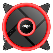 Aigo Aurora Plus 120mm Case LED 4 pin Fan Cooling For Computer 12V Cooling Fan Double Ring Quietly Easy Install Good Price(China)