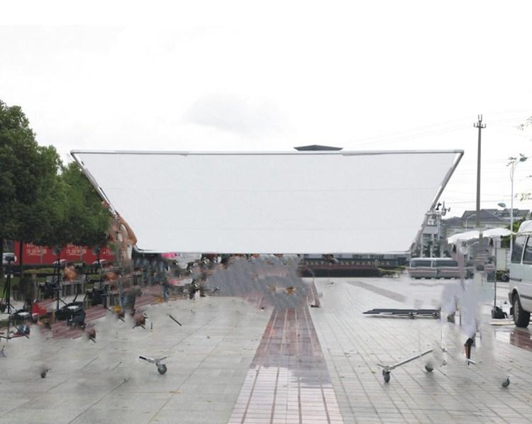Soporte de tela de mariposa 3,6 m * 3,6 m montaje de cámara de vídeo Pantalla de luz suave de 12 pies con paño de luz suave estuche de cd50 - 5