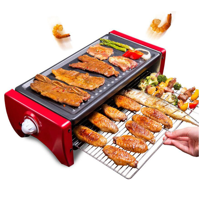 Korean Electric Kitchen Meat BBQ Grill Machine Baking Pan Oven Roaster Bakeware Barbecue Tool Roast Household Fish Cooking