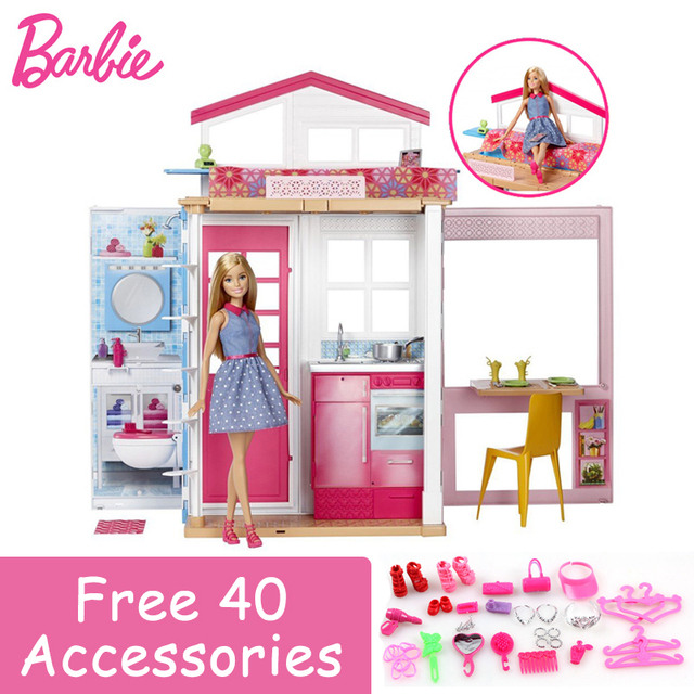Barbie Authorize Brand Newest Holiday House Funny Pretend Dolls Toy For  Little Girl Birthday Gift Barbie 780fb0ab7fdc