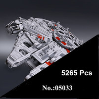 IN STOCK Star 05033 5265Pcs Ultimate Wars LEPIN Collector S Millennium Falcon Model Building Blocks Bricks