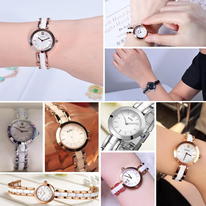 Relogio Feminino BUREI Luxury Brand Fashion Women Watches Waterproof Ceramic Ladies Gold Quartz Wrist Watch Clock Woman Saat New