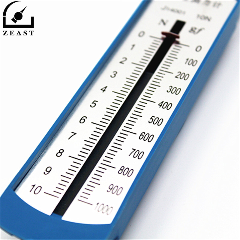 10N Spring Loaded Thrust Meter Lab Dynomometer Springs Balance Newton Force Spring Scale Student Mechanics Experiment
