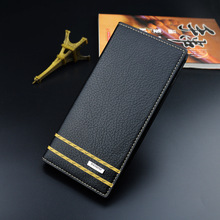 Wallet Men Fashion PU Leather Long Male Clutch Mens Zipper Wallets Coin Purse Card Holder High Quality Men's Long Wallets 2019