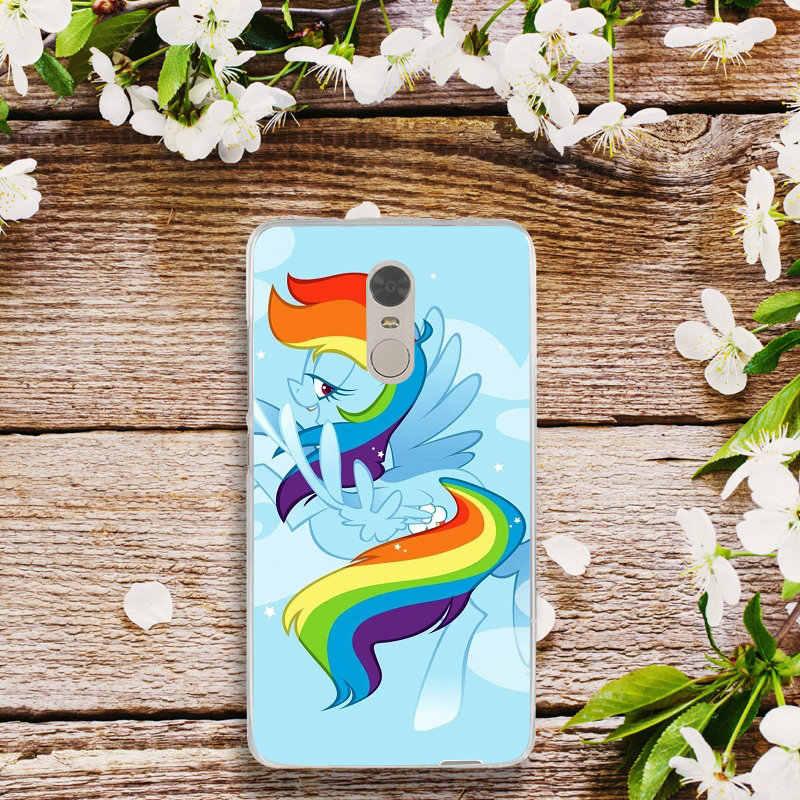 Пони всех цветов радуги; платье и нарисованными облаками для Xiaomi Redmi Mi Note 2 3 3 S 4X 4A 6 5 5S 5A 6 8 A1 Pro Plus силиконовый чехол-накладка из мягкого ТПУ мобильный чехол для телефона сумка