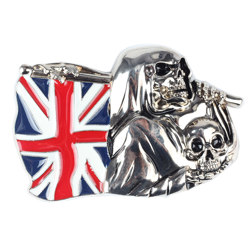 The British Flag Skull Belt Buckle