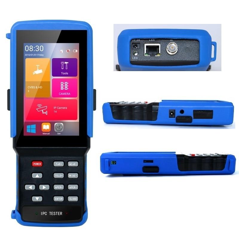 IPC-9310 wifi 4.3 screen tester tela de toque 5 em 1 testador cctv para ipc 4 k/ahd/tvi/cvi/cvbs/wifi/tf bnc/12 v para fora/rs485 ptz/net cabo tester