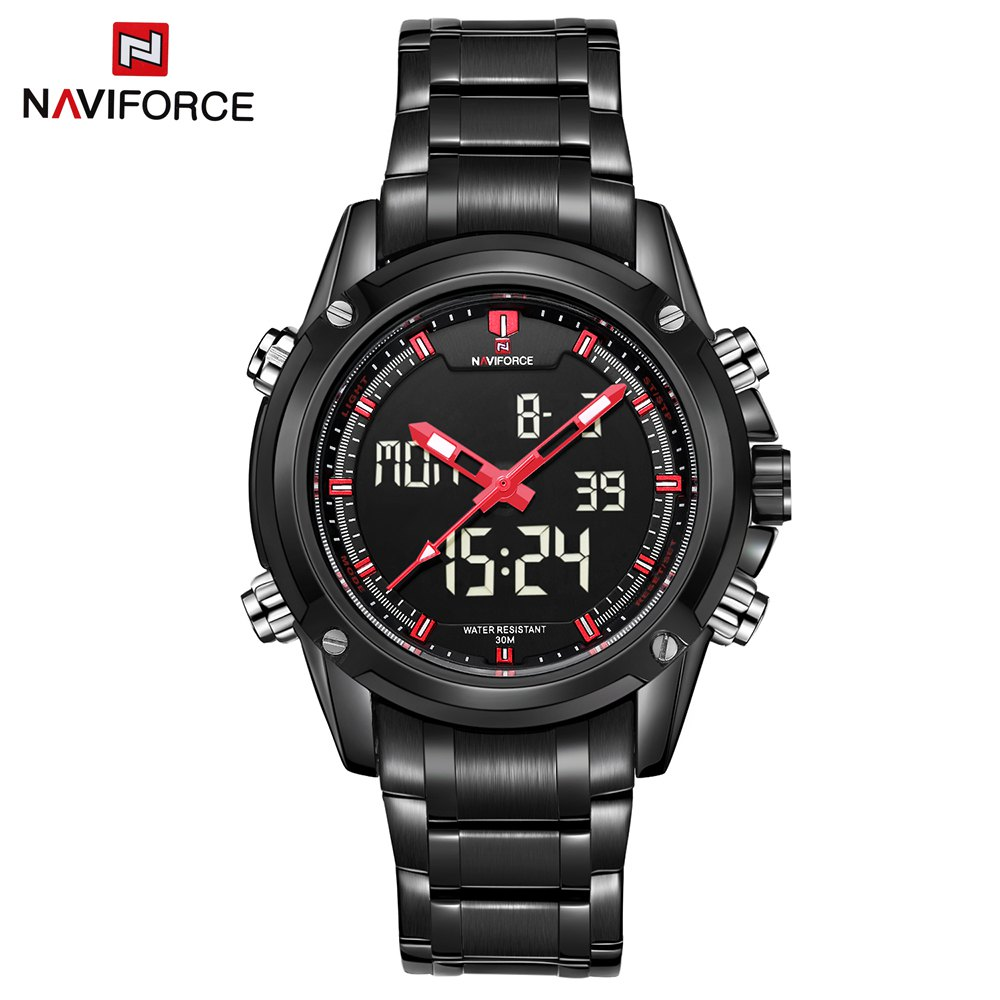 NAVIFORCE Top Luxury Brand Men Military Sports Watches Men's Quartz LED Hour Analog Clock Male Wrist Watch Relogio Masculino top luxury brand men military waterproof rubber led sports watches men s clock male wrist watch relogio masculino 2017