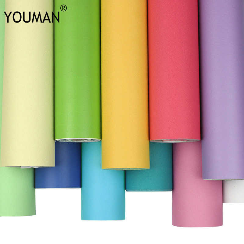 Wallpapers Youman Modern Kitchen Cupboard Cabinet Self adhesive Roll Vinyl Furniture Wall Stickers PVC DIY For Decorative Films