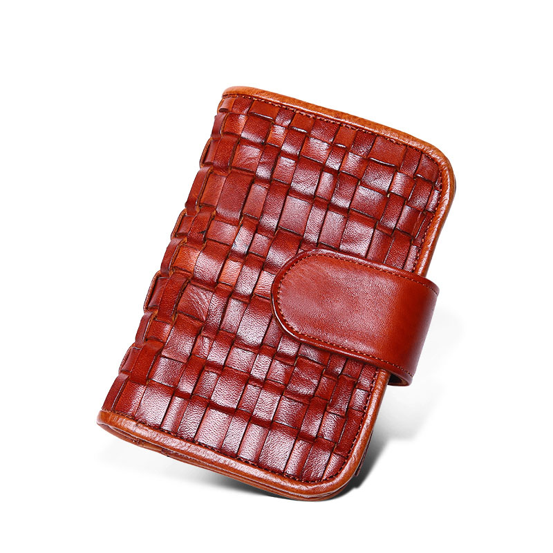 ФОТО *#Retro men wallets dollar purse Genuine leather weave wallet card holder luxury designer clutch business mini wallet