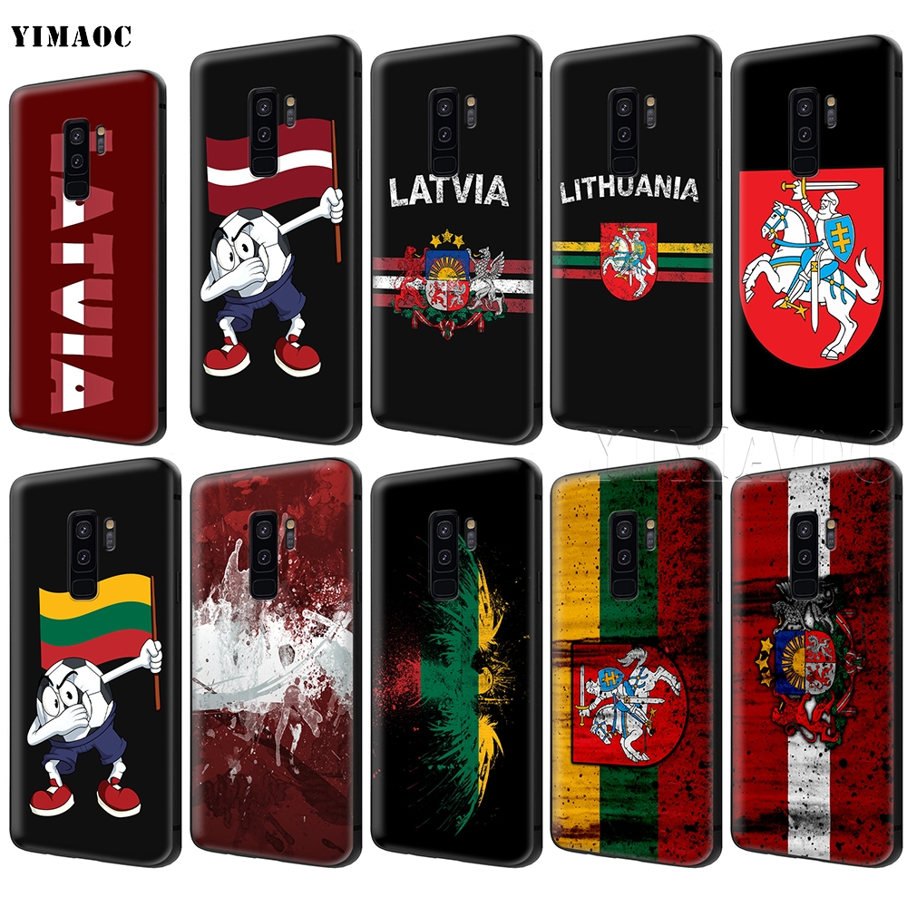 YIMAOC Latvia Lithuania <font><b>Flag</b></font> Case for <font><b>Samsung</b></font> Galaxy A7 A8 A9 <font><b>A10</b></font> A20 A30 A40 A50 A70 M10 M20 M30 S10 S10e J6 Plus image