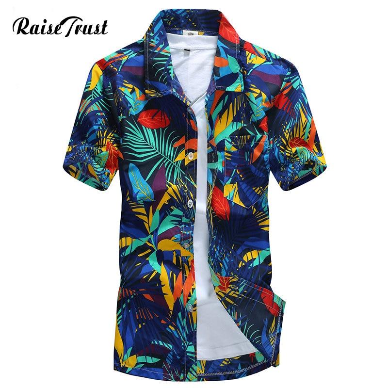 Mens Hawaiian Shirt Male Casual camisa masculina Printed Beach Shirts Short  Sleeve brand clothing Free Shipping. Men s Clothing   Accessories