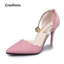 8394df9e Cresfimix mujer moda nuevo cómodo slip on zapatos de tacón alto Mujer lindo  y sexy rojo boda 7 cm tacones altos talones b887