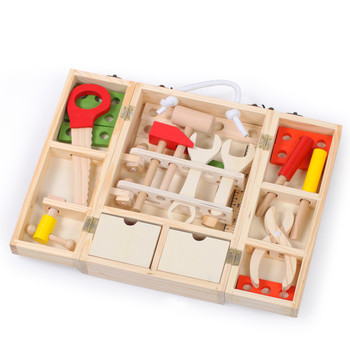 Baby Toys Kids Wooden Multifunctional Tool Set Maintenance Box Wooden Toy Baby Nut Combination Chirstmas/Birthday Gift 1