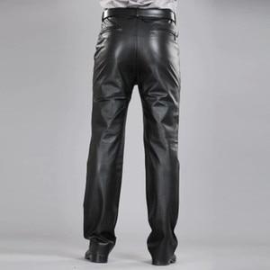 Image 2 - 2020男性本革パンツプラスサイズストレートパンツ男性パンツメンズ正規全身パンツ7XL