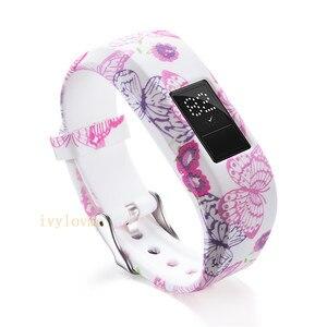 Image 2 - 24 цвета мягкий наручный браслет ремешок держатель для Garmin VivoFit Jr/для Garmin VivoFit JR 2 JR2 Junior трекер активности одежда