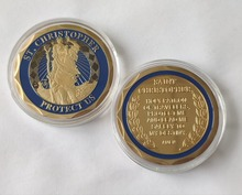 лучшая цена St. Christopher Protect Us Saint Christopher Non-currency Coins Commemorative Challenge Coin, free shipping