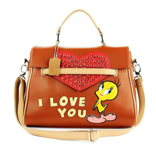 31x22CM 2016  Summer Fashion Creative Personality Lovely Stitching Process Chiken  Handbag Shoulder Female Bag A2654~3