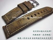 20 21 22 24mm Watchbands עור בציר עבור המילטון מידו Longines Tissot Seiko עבה באיכות גבוהה להקת שעון יד חדש רצועות