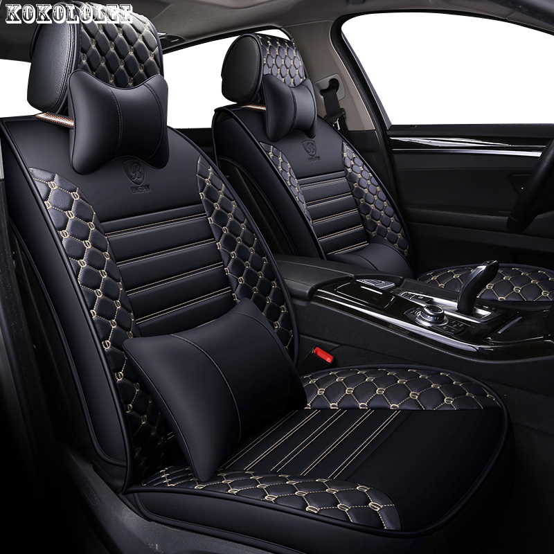 [kokololee] pu leather car seat covers for rx 460 volvo xc90 skoda kodiaq kia rio 4 toyota corolla car styling auto accessories