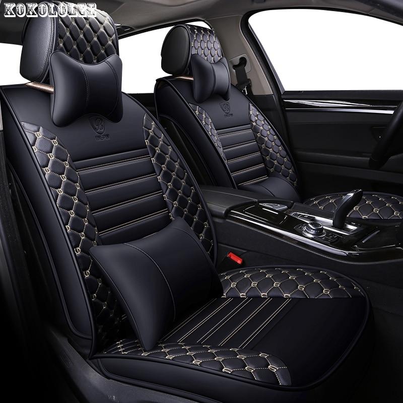 [kokololee] pu leather car seat covers for rx 460 volvo xc90 skoda kodiaq kia rio 4 toyota corolla car styling auto accessories