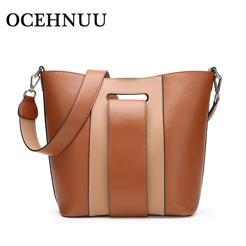 OCEHNUU Soft Cow Genuine Leather Ladies Shoulder Bags For Women 2018 Fashion Luxury Crossbody Handbags Women Bags Designer Brand new fashion brand designer women s satchel handbags genuine cow leather soft solid zipper female totes shoulder crossbody bags