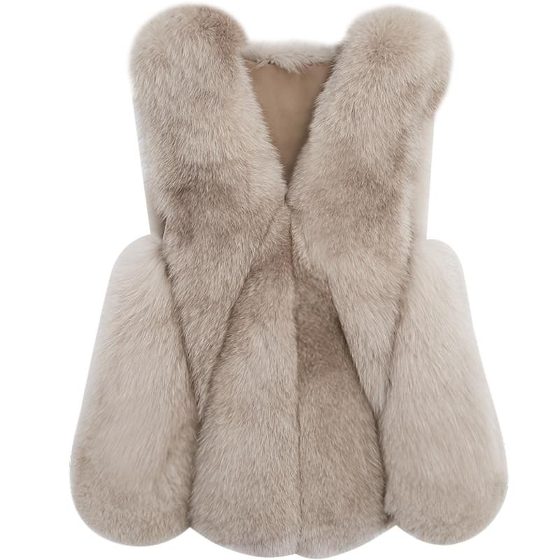 Outwear Renard Sans Nature Gilets Rayé Blanc Veste D'hiver Vêtement Manches De D'eau Manteau Gilet Top Fourrure Goutte Vestes nXx4qwWUA4
