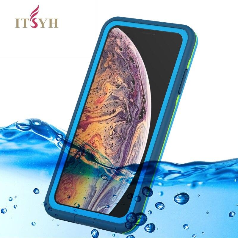 ITSYH Étanche étui pour iphone xs/X/Xs Max/Xr cas Couvert Construit en protecteur d'écran Grade Antichoc Couverture LZH-036P