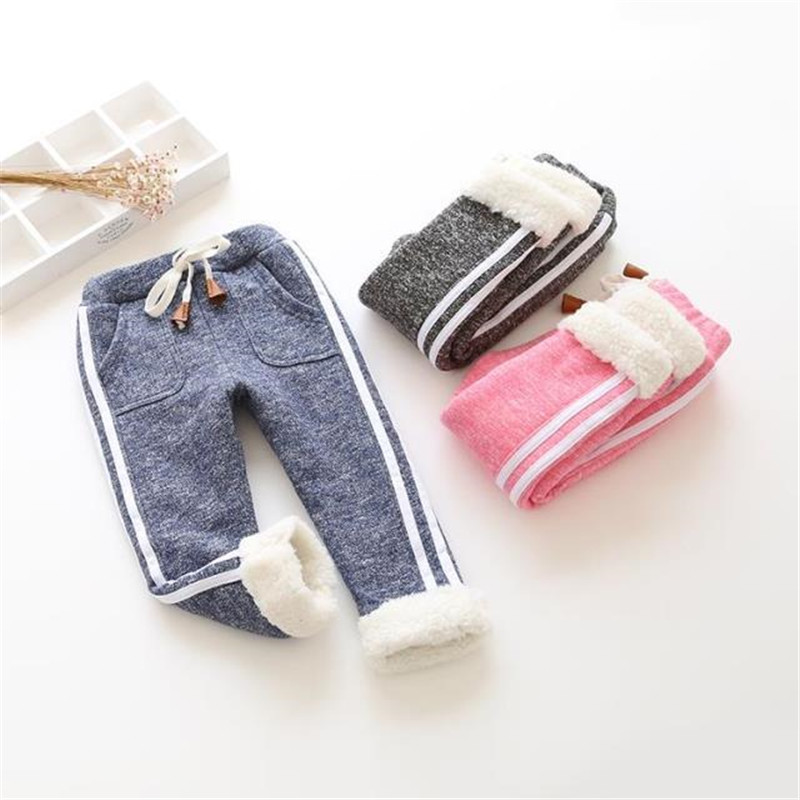 Bibicola Kids Winter Warm Sports Pants Baby Boy Girl Pants Newborn Baby Trousers Plus Thick Velvet Long Pants Children Legging