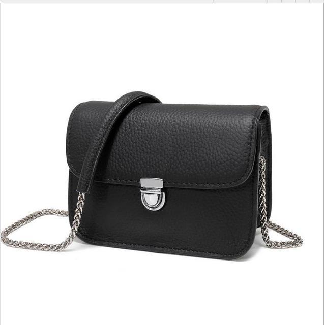real leather brand messenger women flap bags handbags smallbag metal chain  cheap lady Messenger bag fac523f077989