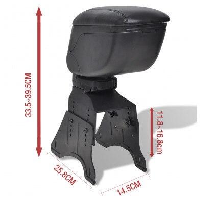 Фото подлокотник для автомобиля ibiza черный кожаный подлокотник
