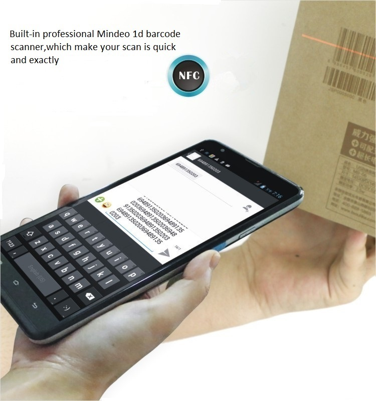 Бесплатная доставка Большой Дисплей 7 дюймов Android 1D штрих-кода считывания данных коллекционеров с Камера NFC читатель GPS ls7s (1D)
