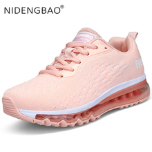 Unisex Sneakers Women 2019 Light Weight Running Shoes Air Cushion Breathable Sneakers High Quality Big Size Couple Sport Shoes li ning genuine women s cushion running shoes sports textile light weight sneakers lining breathable shoes arhm034