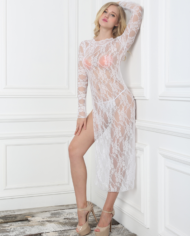 Plus Size XXXL Lace Skirt Women <font><b>Dress</b></font> Transparent <font><b>Babydoll</b></font> Erotic <font><b>Sexy</b></font> Lingerie Hot Open Crotch Ropa Erotica Lenceria Mujer image