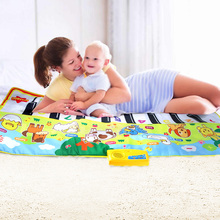 135x58CM Baby Piano Mats Music Carpets For Newborn Baby Animals Voice Touch Play Musical Carpet Mat Educational Toys