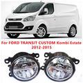 Para FORD TRANSIT encargo Kombi bienes raíces 2012-2015 antiniebla lámparas LED Car Styling 10 W amarillo blanco 2016 nuevas luces