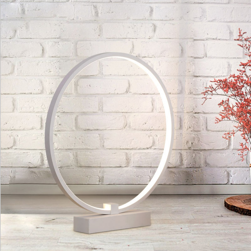 Modern Simple Acrylic round circle LED Table Lamp For Bedroom Living Room Study Desk Table Lamps Minimalist Bedroom Bedside Lamp цена