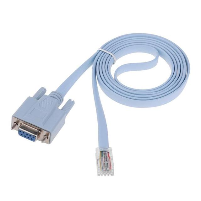 Console Cable RJ45 Ethernet to RS232 DB9 COM Port Serial Female Routers Network Adapter Cable for Cisco Switch Router 1