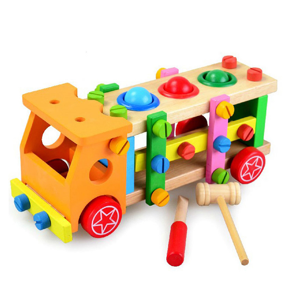 Baby Pasgeboren Kids Noten Demontage Montage Bouwsteen Speelgoed Puzzel Montage Speelgoed Gift Bouwstenen Assemblage Truck