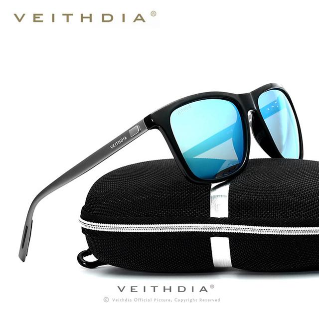 Homens VEITHDIA de alumínio TR90 óculos polarizados óculos de condução esporte óculos de sol moda Eyewear Oculos para acessórios masculinos 6018