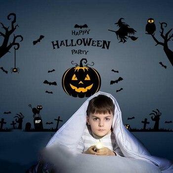 Halloween wall stickers kid camera da letto soggiorno adesivi vetrofanie comodino creativo decorazioni murali carta da parati