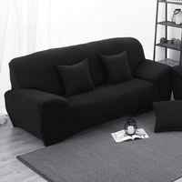 Black Elastic Stretch Sofa Cover L Shaped Slipcover Slip resistant Chair Couch Sofa Cover Set For Living Room Protector